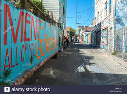 painted wall mural mission district stock photos painted wall san francisco ca usa street art public mural wall painting balmy