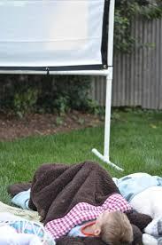 diy backyard movie screen at charlotte u0027s house