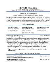 Sample Operations Manager Resume by Director Of Operations Resume Sample Resume For Director Of