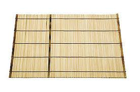 Bamboo Table Top by Japanese Natural Bamboo Dinner Tabletop Placemat Light Tan In