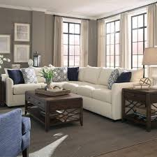 Microfiber Sectional Sofas by Trisha Yearwood Home Collection By Klaussner Atlanta Transitional