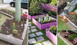 25 garden bed edging ideas home and gardening ideas