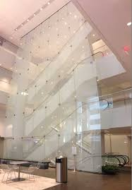 metlife curtain wall lobby point supported glass structural