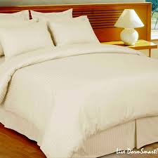 ivory stripe twin xl duvet style comforter set 100 cotton 300