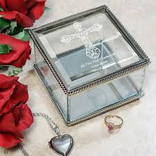 communion jewelry box engraved holy communion glass jewelry box 852900 sadiebug