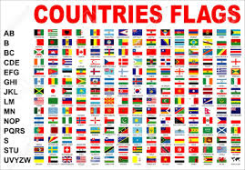 World Map Country Flags Maps Emaps World
