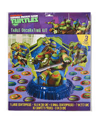 centerpieces for party tables mutant turtles table decorations party