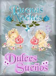 imagenes con frases de buenas noches con movimiento ver imagen de dos angelitos acompañados de lindas rosas con brillo y