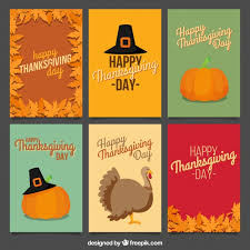 happy thanksgiving card collection in vintage style vector free