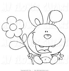 coloring flower clipart 58