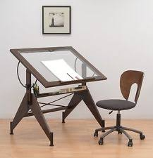 Drafting Table Furniture Drafting Table Furniture Glass Top Art Drawing Tools Solid Vintage