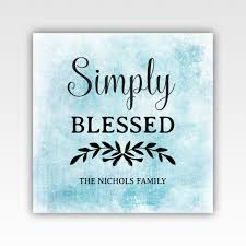 Personalized Home Decor Gifts Personalized Simply Blessed Family Gifts Home Decor Wall Art