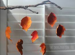 recycled autumn leaf mobile the imagination tree