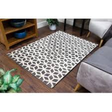 Grey Runner Rug Geometric Design Rugs