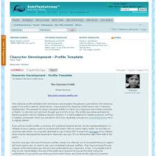 character development profile template library pearltrees