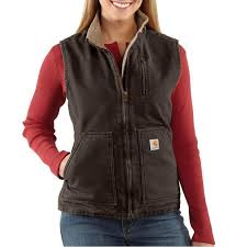 light brown vest womens carhartt women s mock neck sherpa lined sandstone vest irregular