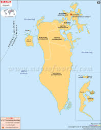 Bahrain Map Middle East by Maps Map Bahrain