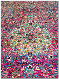 Pink Oriental Rug Pink And Purple Persian Rug Rugs Home Design Ideas