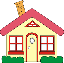 art houses and homes clipart