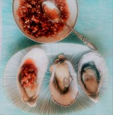 mignonette cuisine oysters with rhubarb mignonette retro food for modern times