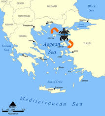 Greek Map Greece Here We Come Black Rock Dive Centre Greece