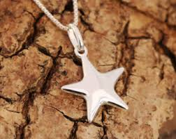 silver star necklace pendant images Lucky star necklace etsy jpg