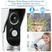 Front Door Video Monitor by Danmini 720p Wireless Wifi Doorbell Video Camera Door Phone Visual