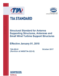 Small H by Tia 222 Structural Standard For Antenna Supporting Structures