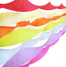 tissue paper streamers set of three crepe paper streamers by blossom
