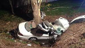 crews rescue driver who crashed into tree drainage ditch cbs boston
