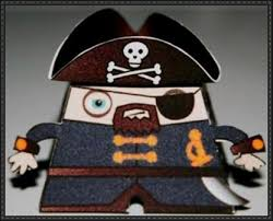 new paper model a simple pirate free paper toy download on