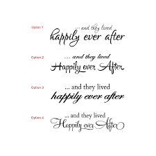 wedding quotes happily after and they lived happily after wedding wall quote sign vinyl