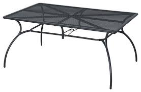 garden patio table metal 6 rectangular table contemporary treasure