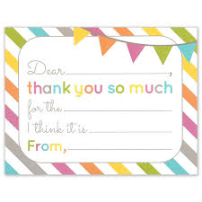 fill in the blank thank you cards birthday or