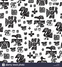 seamless vector pattern black and white ethnic elements