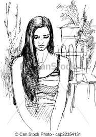 vectors of sketch of walking garden black and white sketch