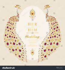 Indian Invitation Card Indian Wedding Invitation Card Templates Gold Stock Vector