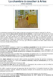 la chambre à coucher gogh la chambre à coucher à arles 1ère version pdf