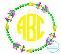 mardi gras frame arrow mardi gras monogram frame embroidery design