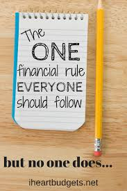 one rule the 1 financial rule everyone should follow but nobody does