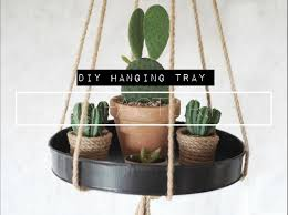 how to make a diy hanging tray in 5 minutes youtube
