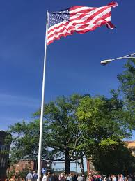 The Grand Union Flag Flag Day Ceremony Held To Dedicate New 100 Foot Flag Pole In Danbury