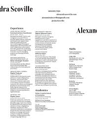 resume u2014 alex scoville