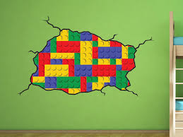 lego style wall decal kids bedroom lego room decoration