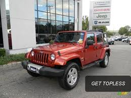Wrangler 2009 2009 Sunburst Orange Pearl Jeep Wrangler Unlimited Sahara 4x4