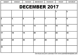 December Calendar Pages 2017