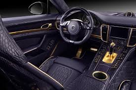 black porsche panamera interior 2014 porsche panamera dressed in crocodile leather and gold