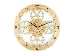 unique clock gears clock industrial wall clock unique clock wooden cog clock