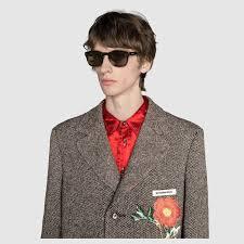 gucci 2015 heir styles for men square frame acetate sunglasses gucci men s eyewear 491397j07402325