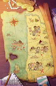 World Treasure Map by Misfit City Creators Talk Referencing The Goonies